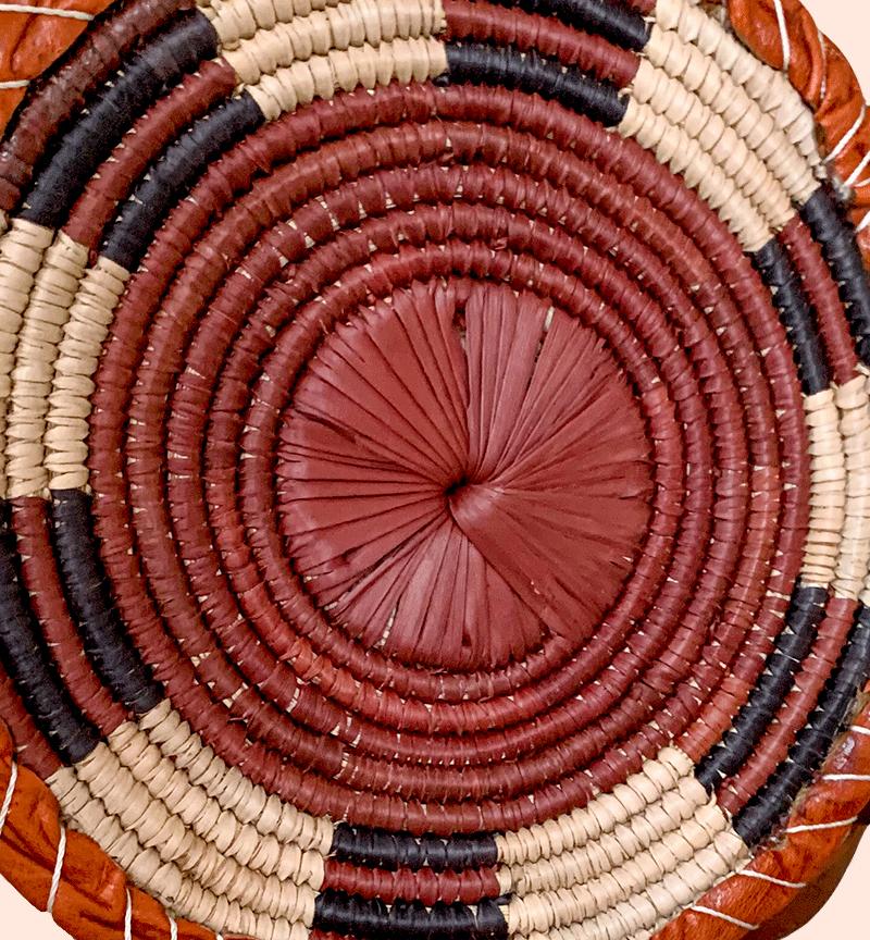 Round Woven Aztec Cross Body Bag